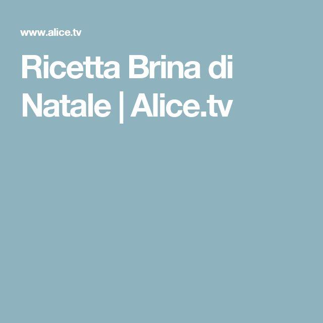 Ricetta Brina di Natale | Alice.tv