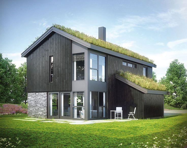 Dråpen er en kompakt, men innholdsrik bolig. Store vindusflater sørger for mye lys og bidrar til økt romfølelse.