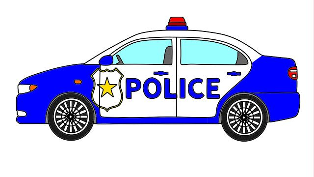 Video For Kids And Drawing Coloring How To Draw Police Car How To