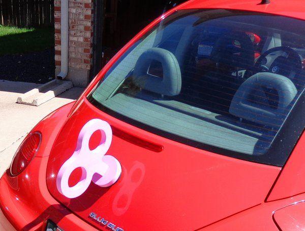 VW Beetle Pink Wind Up Key | Vase, Keys and Accessories