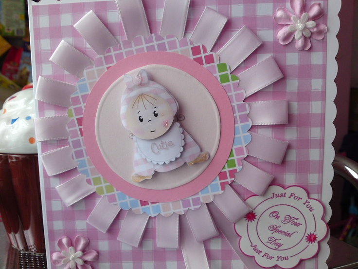 christening card for a baby girl