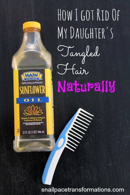 How to get rid of hair tangles naturally. It took just one application of this method to get rid of my daughter's tangles for days. Works great for hair that has become dry from pool swimming too.