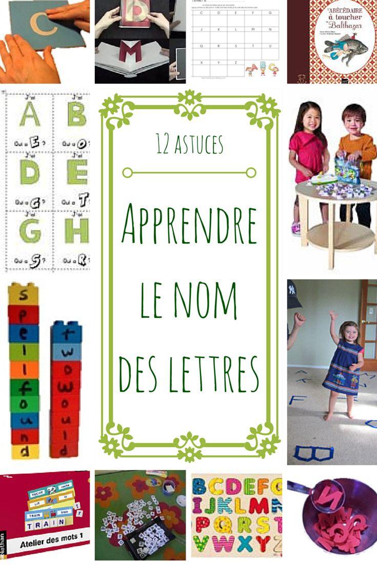 De nombreuses activités multisensorielles pour apprendre le nom des lettres à la maternelle. Très intéressant.