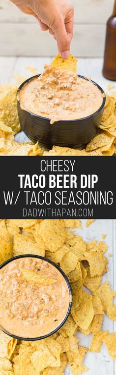 Cheesy Taco Beer Dip with a Taco Seasoning Recipe from scratch!