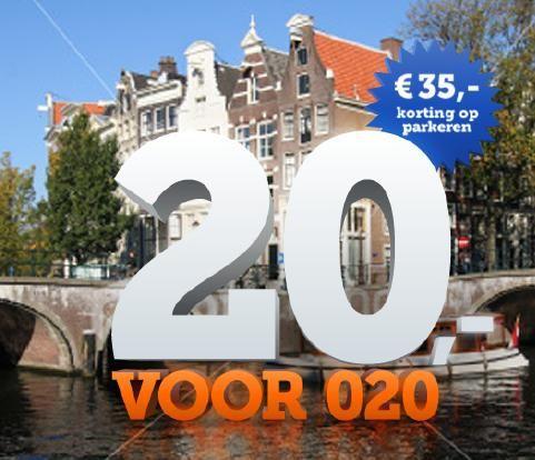 Trouwen in Amsterdam? Wil je gasten niet opzadelen met hoge parkeerkosten? Met de actie 20voor020 betalen je gasten slechts € 20,- voor 24 uur parkeren bij P1 Parking Amsterdam Centrum.