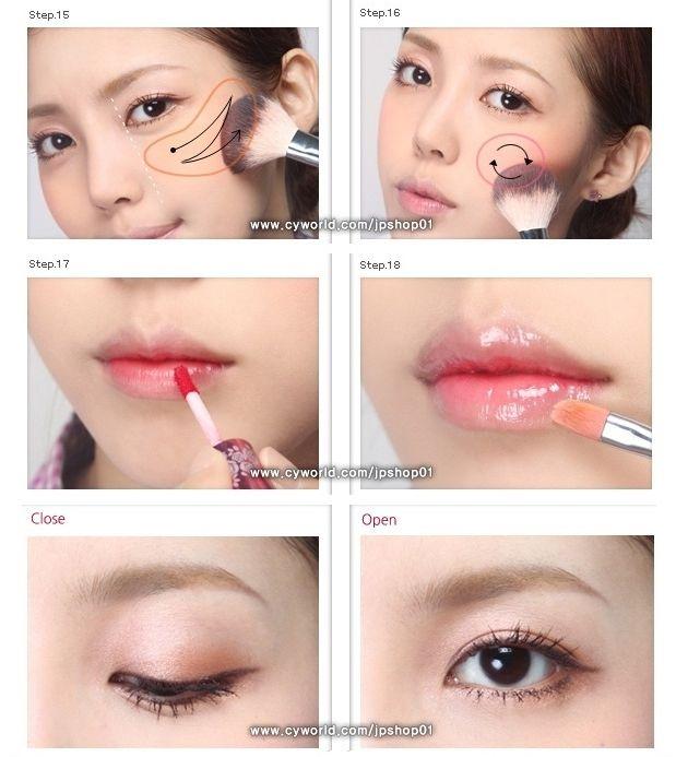 """**~Zibees.com~** Fashion Guilt DIY/Tips!!: """"Girl Next Door"""" Korean Makeup Tutorial Picture DIY How to"""