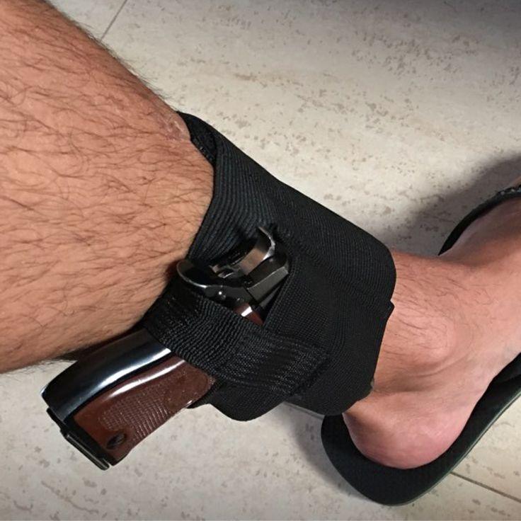 Tactique Réglable Dissimulé Universel Noir pour Transporter Cheville Jambe Pistolet Gun Holster LCP LC9 PF9 Petit signal 223 SCCY 9mm H30