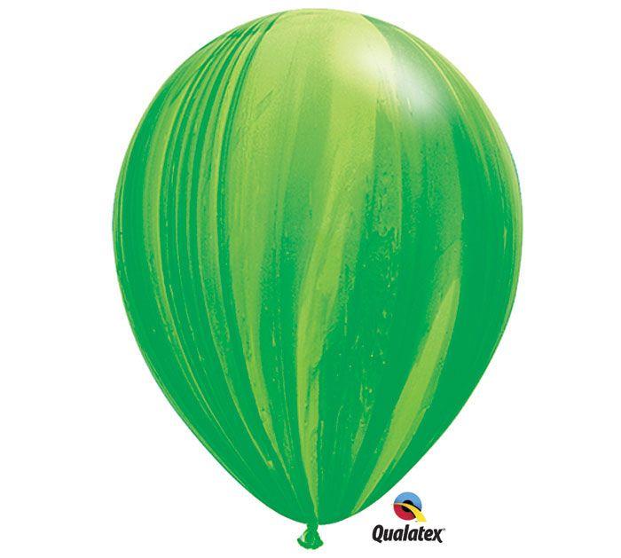 "#burtonandburton GREEN RAINBOW SUPERAGATE®<br/><br/>pk/25<br/>11""<br/><br/><br/><br/><br/>Qualatex®"""