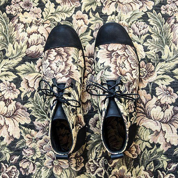 #MIŁOSZKA #Butydamskie  #tkanina  #skóra  #2016 #manista  #manistashop  #botki #women #shoes  #fabric  #skin #2016   #booties #flowers #floral #kwiaty