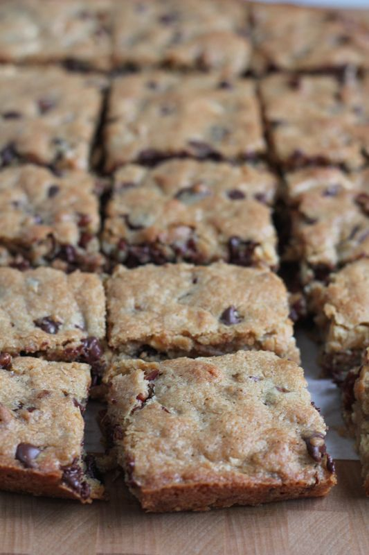 Best Ever Blondies! Using white chocolate chips plus semisweet chocolate chips gives these blondies a rich, full flavor. Recipe from America's Test Kitchen. .  #blondies #baking