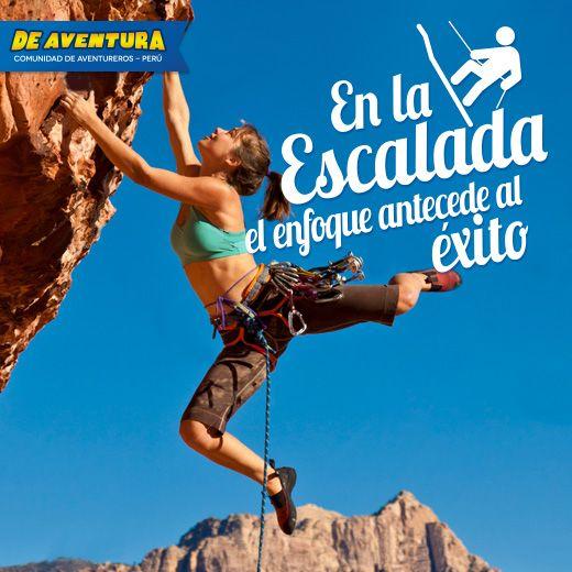 En la escalada el enfoque antecede al éxito. http://www.deaventura.pe/escalada #escalada #climbing