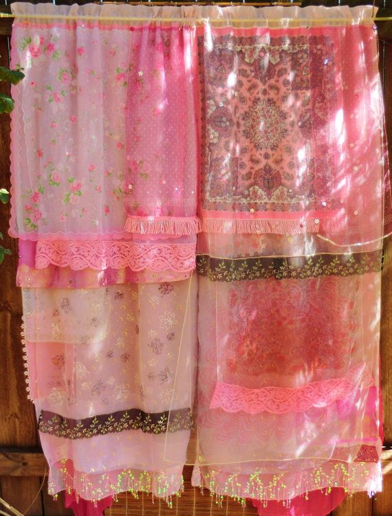 Handmade Gypsy Curtains  Wake Up Maggie by BabylonSisters on Etsy, $225.00: Little Girls, Handmade Gypsy, Gypsy Curtains, Babylon Sisters, Showers Curtains, Collection Scarves, Bohemian Rooms, L S Styles, Bohemian Gypsy