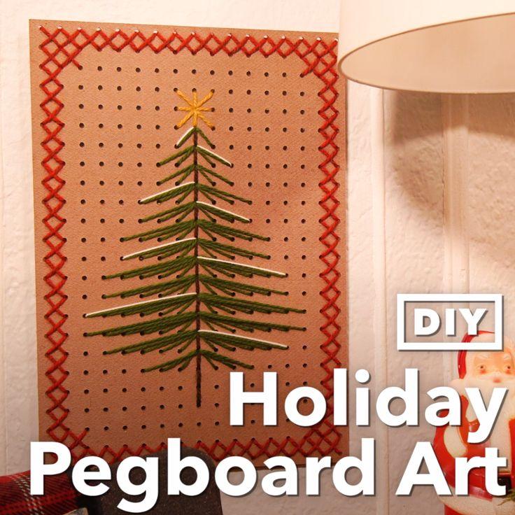 DIY Holiday Pegboard Art