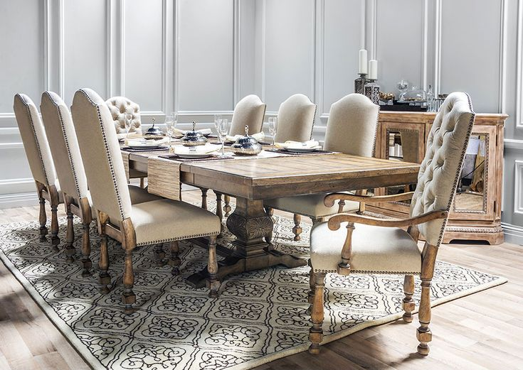 Charmant Darius Rectangle Dining Table