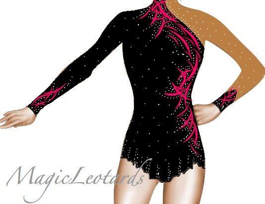 rhythmic gymnastics dresses coral - Google Search