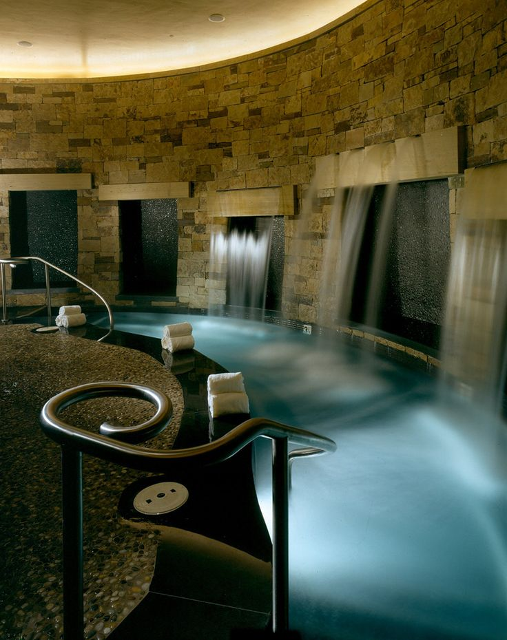 The Spa at St. Regis Aspen Resort in Aspen, Colorado. This could be made into a dream house bathroom.-#pinadream
