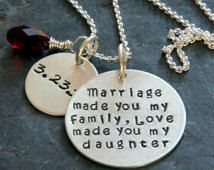 Gift For Daughter In Law, Marriage Made You My Family, Gift from Stepmother, Stepdaughter, Marriage, Mother,  Gift from Groom's Mom,Wedding