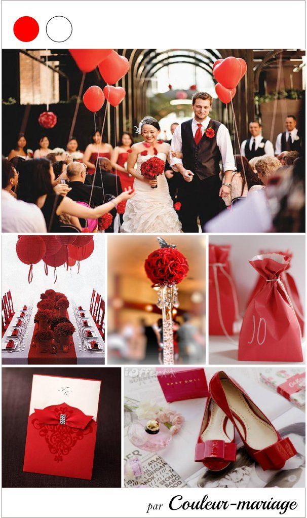 73 best images about mariage rouge et blanc on pinterest wedding the bride and candy bars. Black Bedroom Furniture Sets. Home Design Ideas