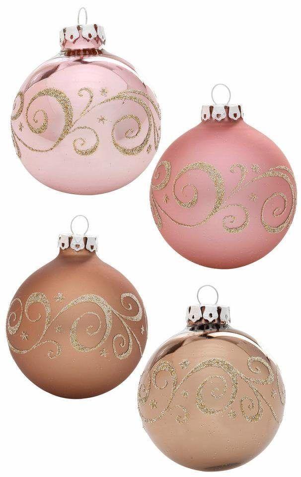 TGS-Weihnachtskugeln »Romantik« rosa, THÜRINGER GLASDESIGN Jetzt bestellen unter: https://moebel.ladendirekt.de/weihnachten/weihnachtsdeko/?uid=631dd1b3-cfb2-5056-9ab7-e98b86b1c390&utm_source=pinterest&utm_medium=pin&utm_campaign=boards #weihnachten #weihnachtsdeko #tgsweihnachtskugeln