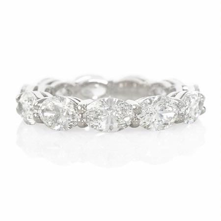 NEW: Eleven beautifully matched hand selected oval diamonds 5.30ctw embrace this platinum eternity wedding ring. #love