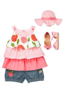 Baby Peach Outfit for Girls #Gymboree #summer