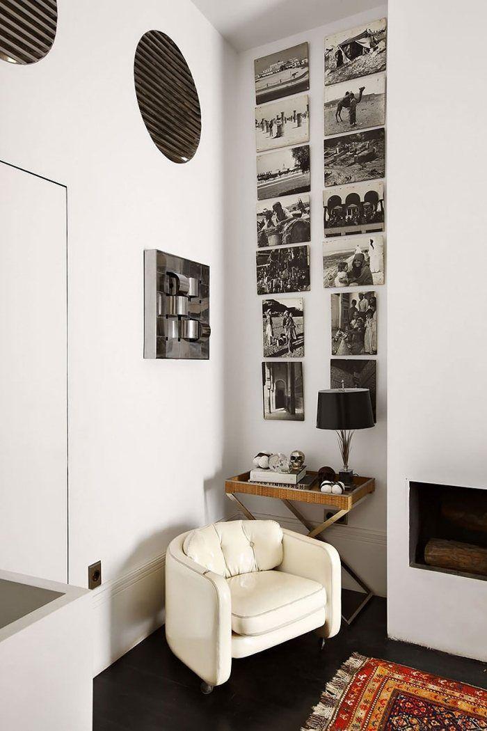 Individuelle Wandgestaltung mit FotografienLeseecke mit Polstersessel