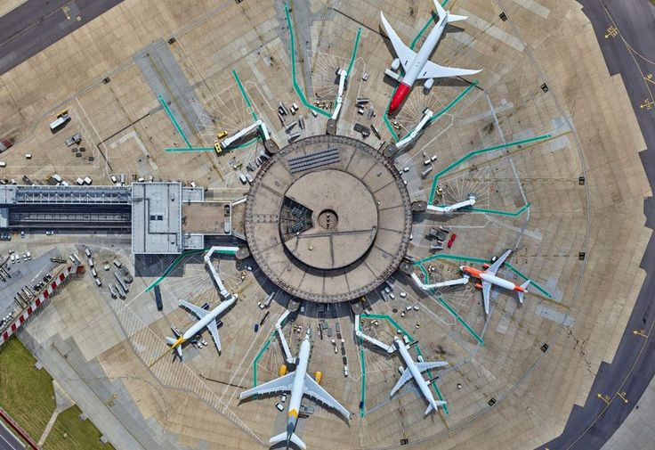 Gatwick airport has released a collection of new aerial shots by award-winning New York photographer Jeffrey Milstein - July 2016