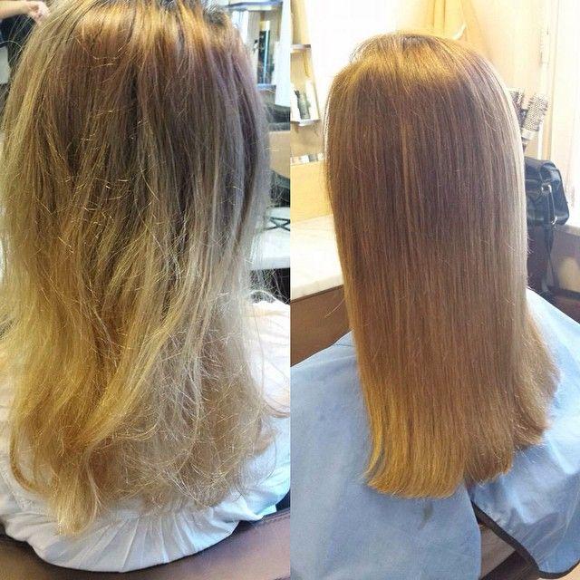 Koloryzacja Majirel z Olaplex, super efekt  włosy odbudowane i mocne #hair #haircolor #olaplex #beautyfull #kolor #barber #fryzjer #fryzjerwilanów #metamorfoza #wilanów