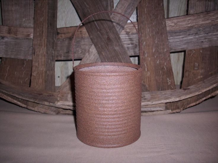 primitive crafts | Free Primitive, Country and Rustic Craft Instructions, Tin Can Bucket ...