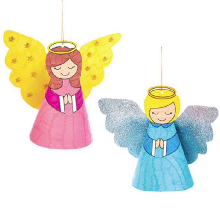 Angel colour in - PACK OF 8 CARDS arts crafts kids activities