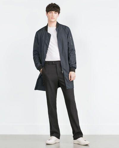 Image 4 of LONG BOMBER JACKET from Zara