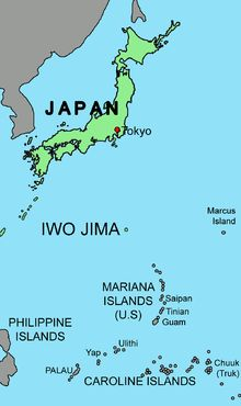 Battle of Iwo Jima - Location of Iwo Jima