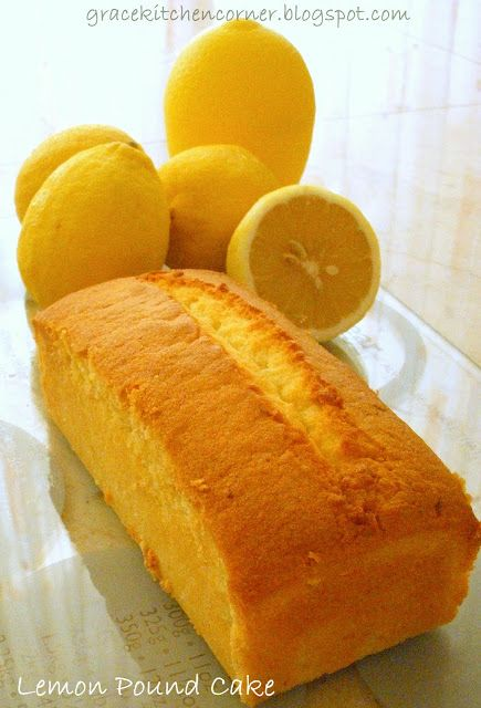Kitchen Corner: Lemon Pound Cake