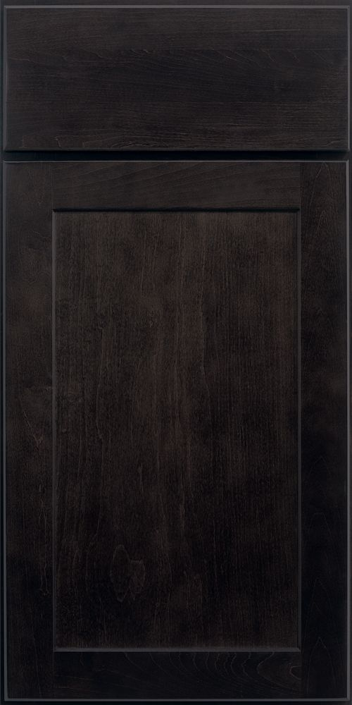 Merillat Classic Shaker Style Portrait Cabinet Door With Slab Style Drawer  Front In Dusk
