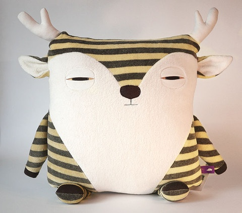 caribou animal pillow | velvet moustache