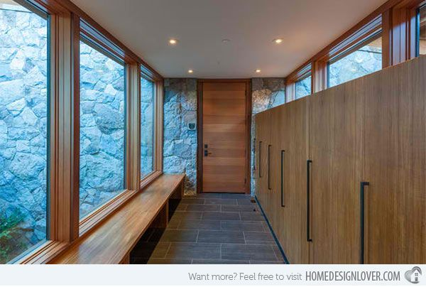 Modern and contemporary mud room entry designs