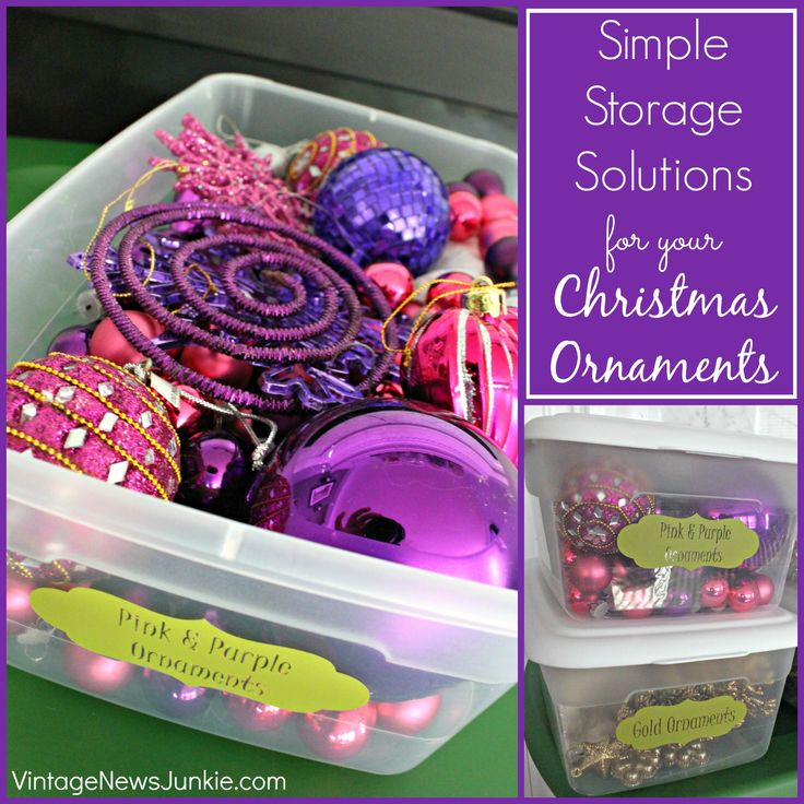 Simple Storage Solutions for your Christmas Ornaments #Storage #Organization - 67 Best CHRISTMAS ORNAMENT STORAGE IDEAS Images On Pinterest
