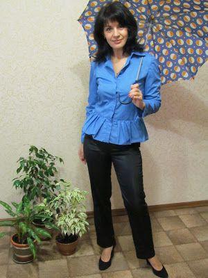 Anzhelika Grebeniuk: Рубашка для офиса.
