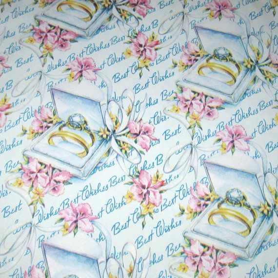 Vintage Wedding Wrapping Paper or Gift Wrap by grandmothersattic, $4.95