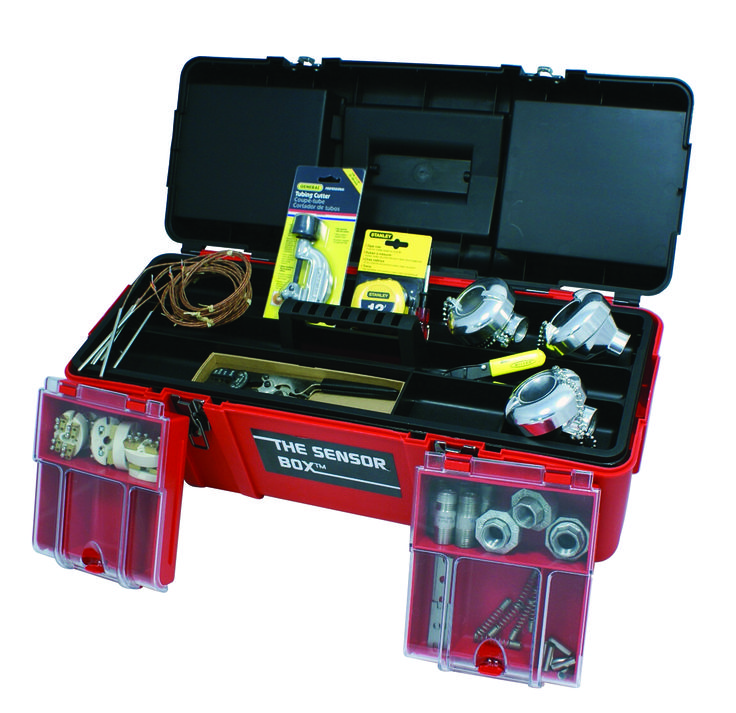 The Sensor Box™ is a rugged toolbox containing all of the parts and tools to quickly and easily build the sensor you urgently need.  It's flexible, comprehensive, self-contained, industrial and easy to use.