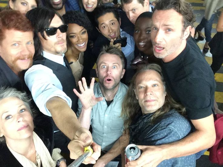 Best selfie ever with The Walking dead cast & crew!