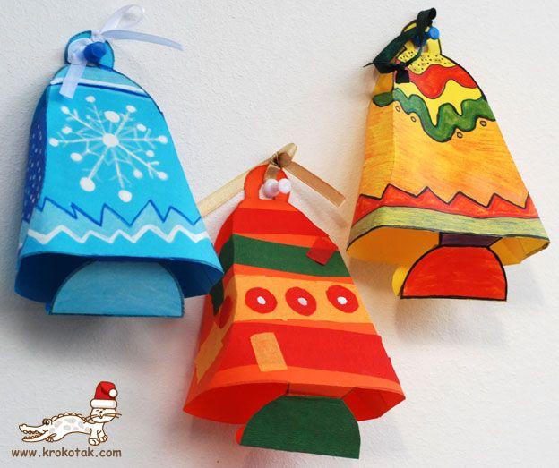Paper BELLS  krokotak  NAVIDAD MANUALIDADES  Pinterest  Natale ...