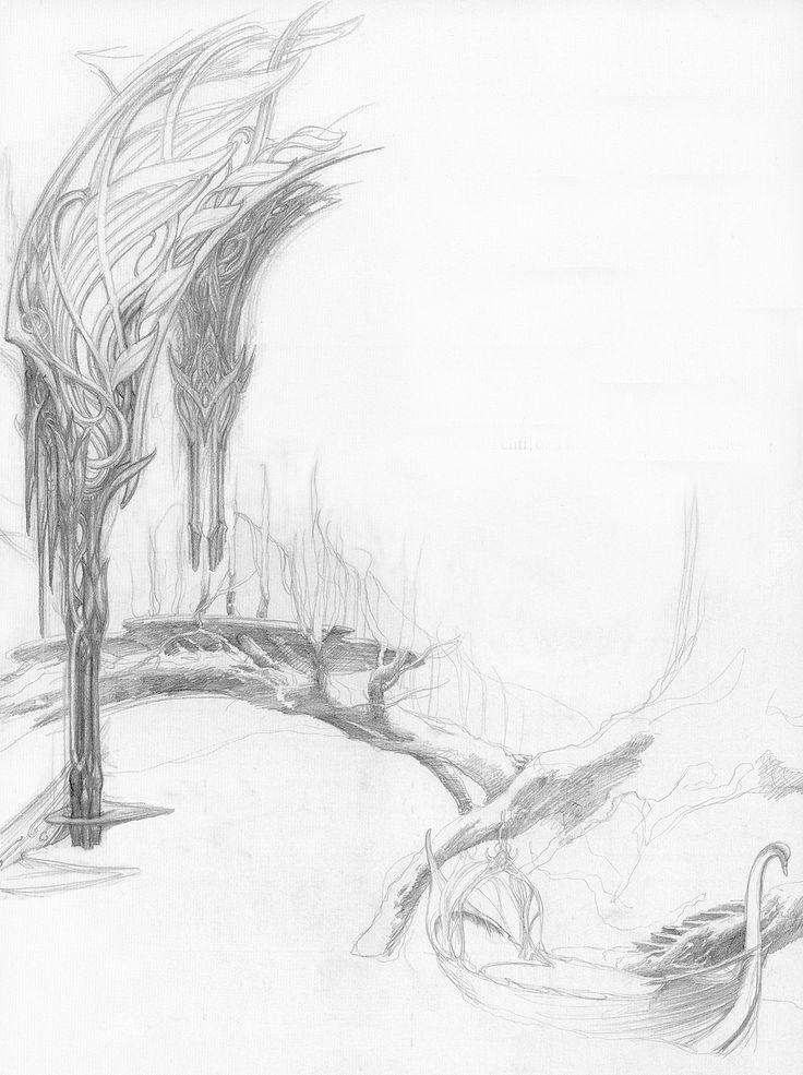 alan_lee_the lord of the rings_sketchbook_07_lothlorien04.jpg (1195×1600)