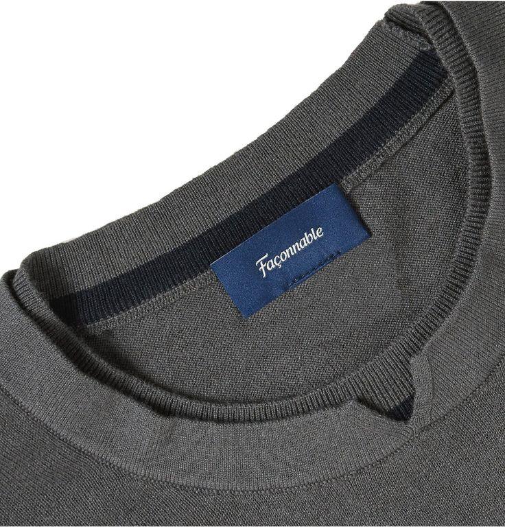 FaconnableCotton, Silk and Cashmere-Blend Sweater|MR PORTER