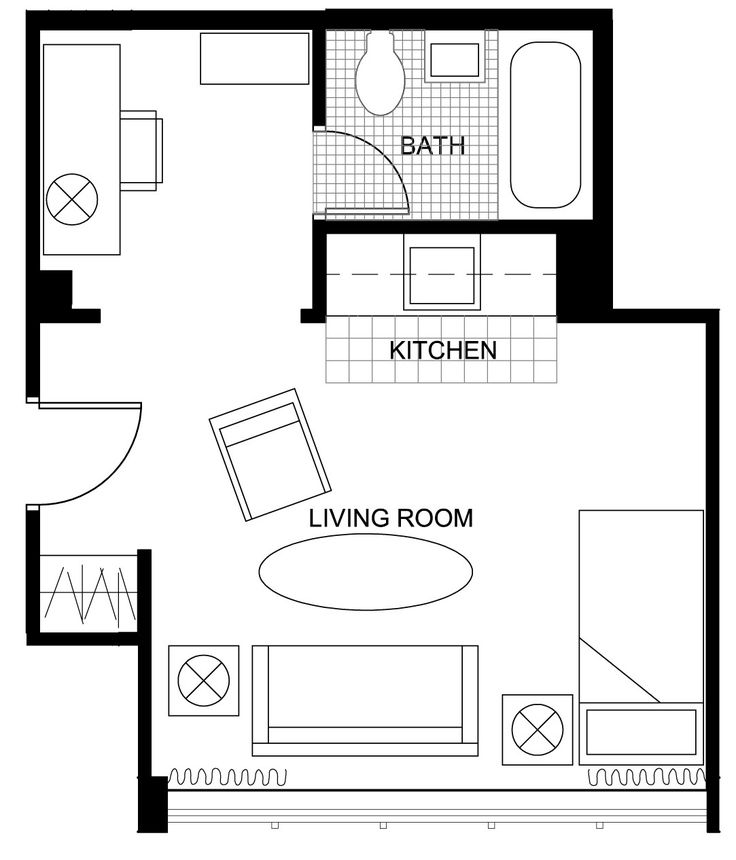 Studio Apartment Plan stunning studio apartment plans gallery - room design ideas