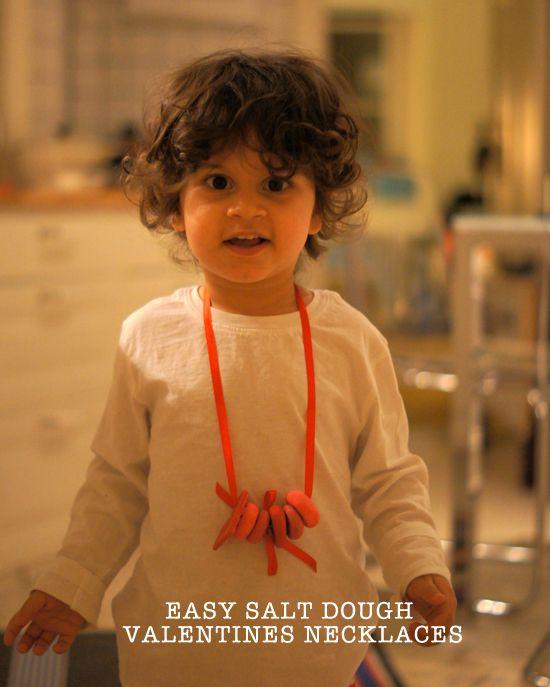 Mini Piccolini - Easy DIY Salt Dough Necklaces for Valentines Day