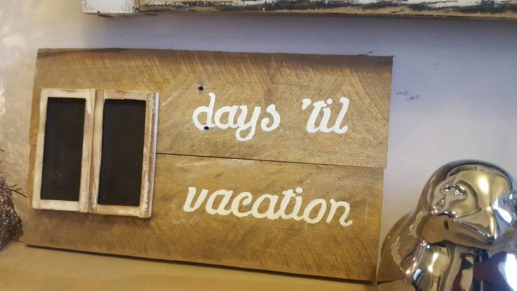 Countdown sign, reclaimed pallet sign with chalkboard countdown calendar, days til, wedding, baby, vacation, retirement, countdown, pallet by Ajminteriors on Etsy
