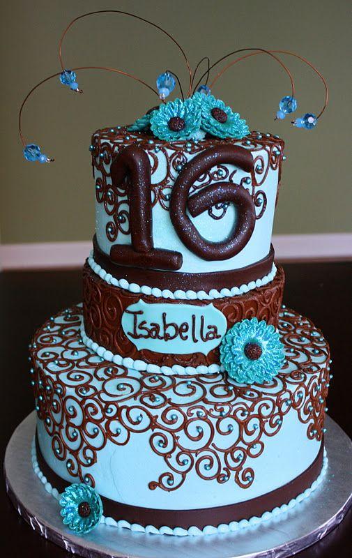 sweet 16 cakes for girls   Claudine: Sweet 16 Birthday Cake