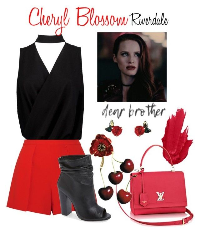 Cheryl Blossom by sparkle1277 on Polyvore featuring polyvore, fashion, style, Boohoo, Alice + Olivia, Kristin Cavallari, Atelier Swarovski and clothing