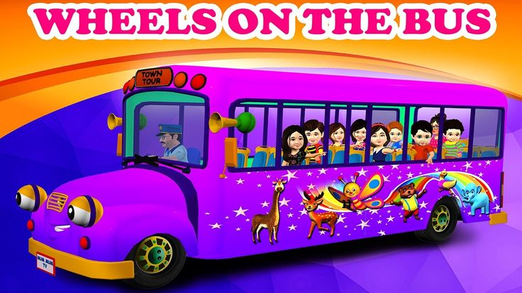 The wheels on the Bus Nursery Rhymes for Children Video Songs | Lyrics f...